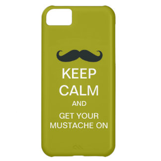 Keep Calm Funny Mustache iPhone 5 Case (Mod)