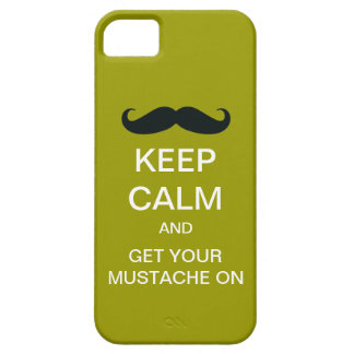 Keep Calm Funny Mustache iPhone 5 Case (Mod)
