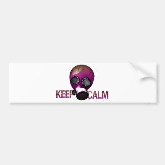 keep Calm Gas Mask Bumper Sticker