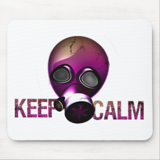 keep Calm Gas Mask Mouse Pad