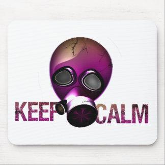 keep Calm Gas Mask Mousepads