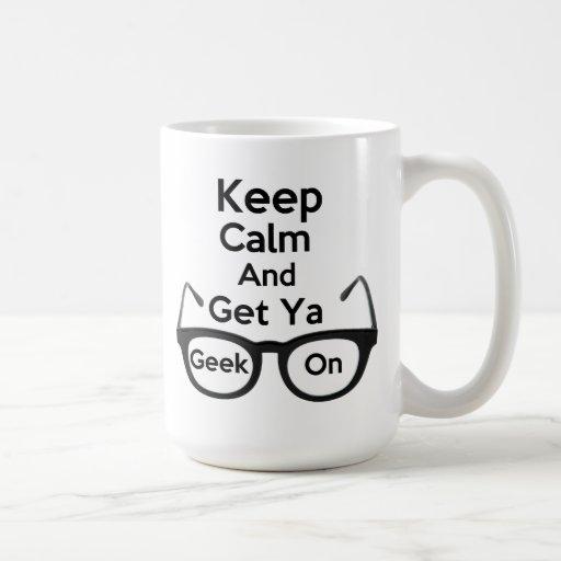 Keep Calm & Get Ya Geek On Classic White Mug