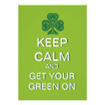 Keep Calm Get Your Green on St. Patrick Day Invite