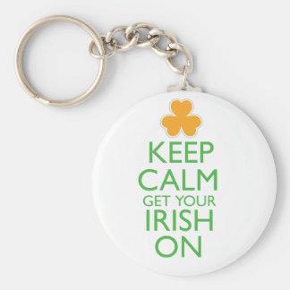 Keep Calm Get Your Irish On Keychain