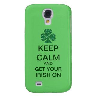 Keep Calm Get Your Irish On Samsung Galaxy Case Samsung Galaxy S4 Case