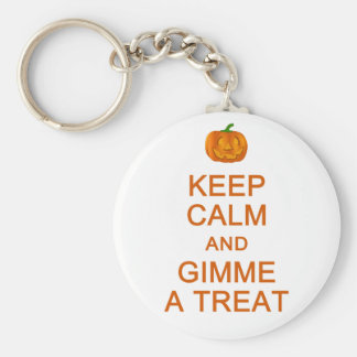 Keep Calm & Gimme A Treat key chain