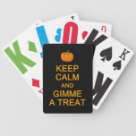 Keep Calm & Gimme a Treat playing cards
