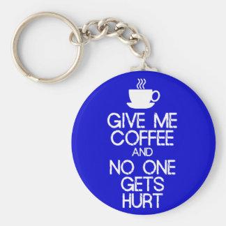 Keep Calm - Give me coffee Keychain