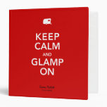 Keep Calm Glamp On Memories Binder