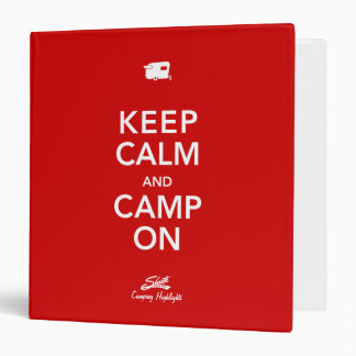 Keep Calm Glamp On Shasta Binder