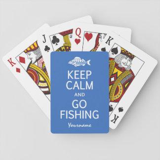 Keep Calm & Go Fishing custom color playing cards