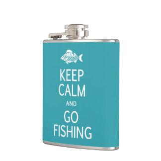 Keep Calm & Go Fishing custom flask