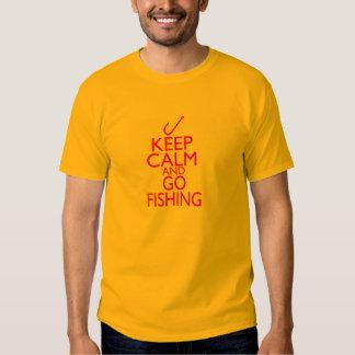 keep+calm+go+fishing+gifts t shirt