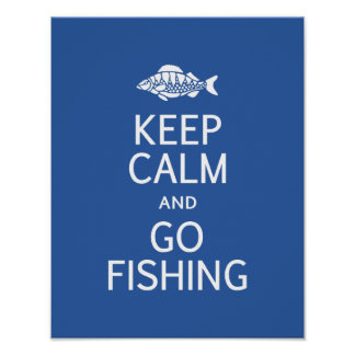 Keep Calm Go Fishing poster