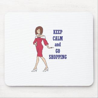 KEEP CALM GO SHOPPING MOUSE PAD