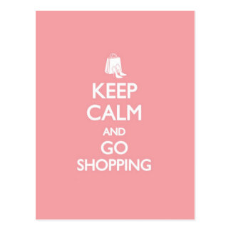 Keep Calm & Go Shopping Postcard