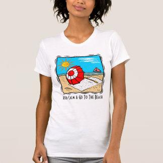 Keep Calm & Go To The Beach Girls T-Shirt