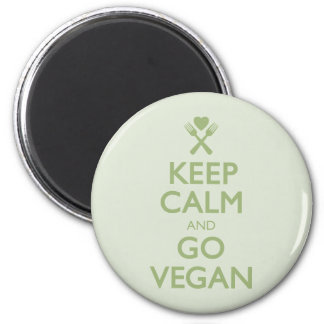 Keep Calm Go Vegan Magnet
