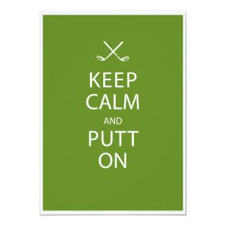 Keep Calm - Golf 80th Birthday 5x7 Paper Invitation Card