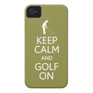 Keep Calm & Golf On custom color Blackberry case