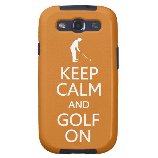 Keep Calm & Golf On custom color Samsung case