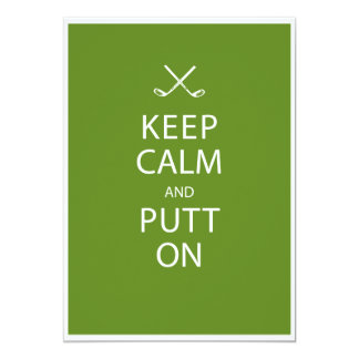 Keep Calm - Golf Theme Retirement Party Card
