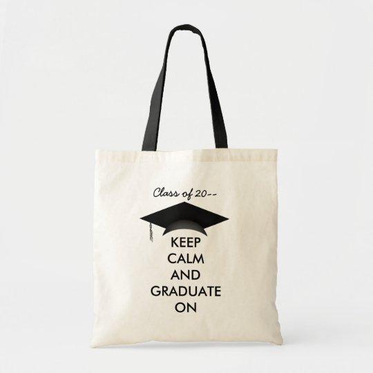 Keep calm graduate on tote bag