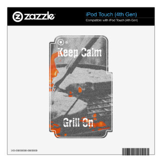 Keep Calm Grill On iPod Touch 4G Decal