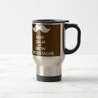 Keep calm & Grow a Moustache Travel Mug