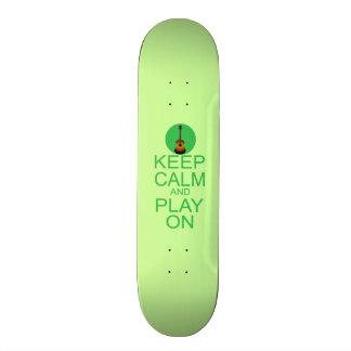 Keep Calm Guitar Parody Custom Skate Board