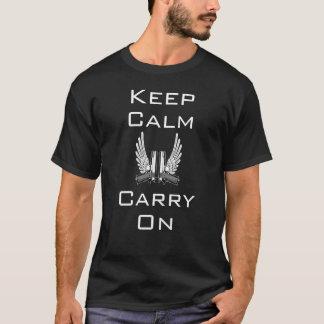 Keep Calm Gun Wing T-Shirt V2Front