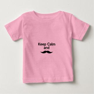 Keep Calm, Handlebar Mustache Baby T-Shirt