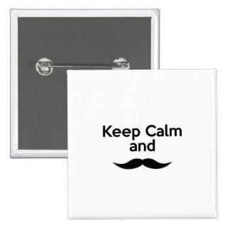 Keep Calm, Handlebar Mustache Buttons