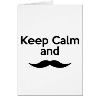 Keep Calm, Handlebar Mustache Card