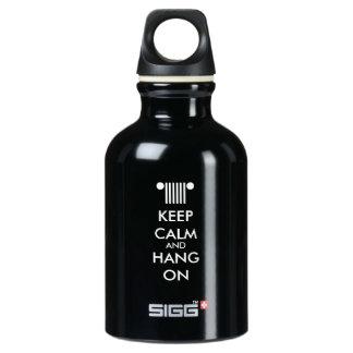 Keep Calm Hang On Aluminum Water Bottle
