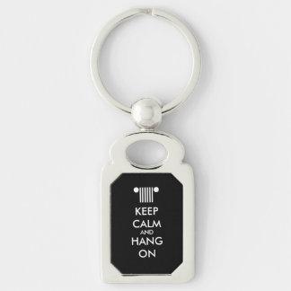 Keep Calm Hang On Keychain