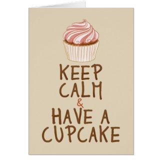 Keep Calm Have a Cupcake - beige Card