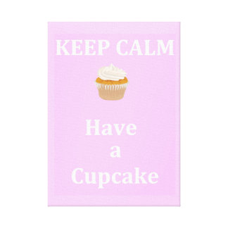 Keep Calm - Have a cupcake Canvas Print