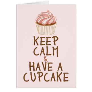 Keep Calm & Have a Cupcake Card