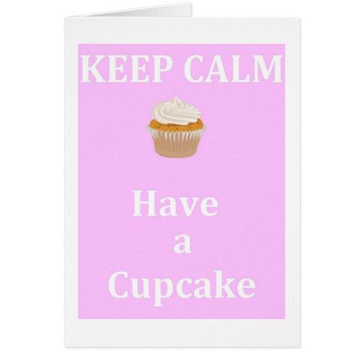 Keep Calm - Have a Cupcake Cards