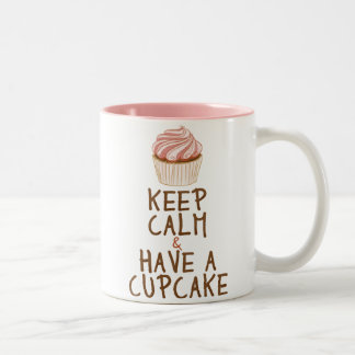Keep Calm & Have a Cupcake Two-Tone Coffee Mug