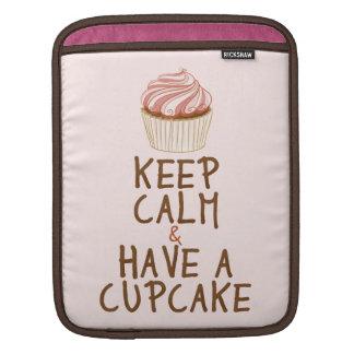 Keep Calm & Have a Cupcake Sleeve For iPads