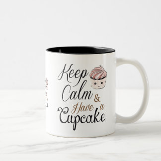 Keep calm Have Cupcake Kawaii Two-Tone Coffee Mug