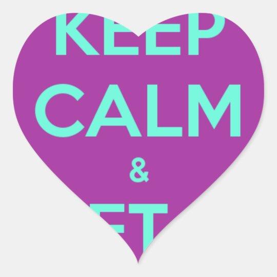 KEEP CALM HEART STICKER