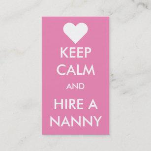 Nanny business cards templates zazzle keep calm hire a nanny business card reheart Choice Image