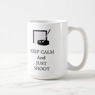 Keep Calm Hockey Net and Stick Coffee Mug