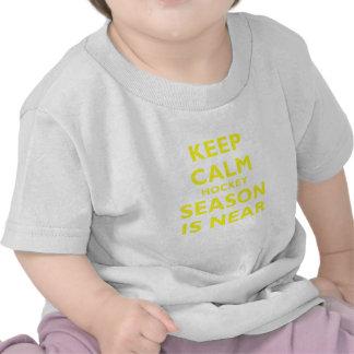 Keep Calm Hockey Season is Near Tee Shirt