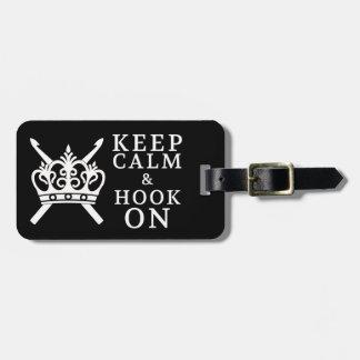Keep Calm Hook On Crafts / Crown {Dark} Luggage Tag