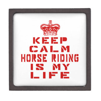 Keep calm Horse Riding is my life Premium Gift Boxes