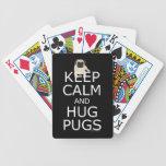 Keep Calm Hug Pugs Deck Of Cards